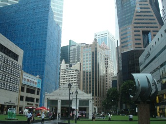 Raffles Place MRT Exit B, street level